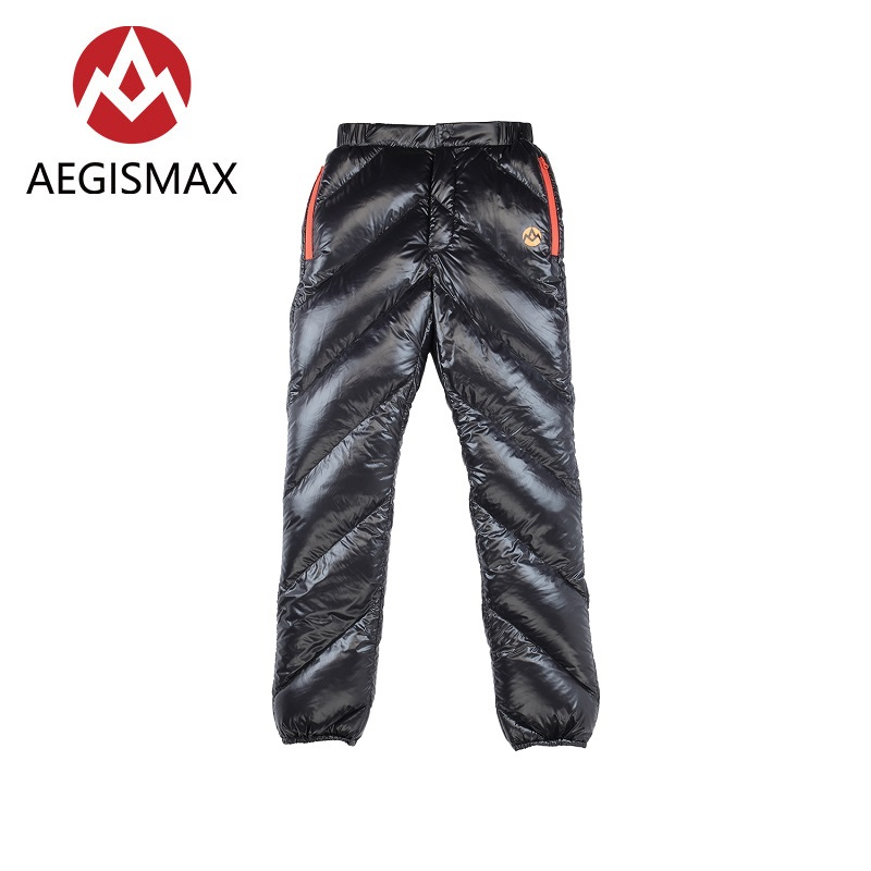 AEGISMAX Unisex 95 White Goose Down Pants Outdoor Climbing Waterproof Warm Pants Camping Goose Down Trousers