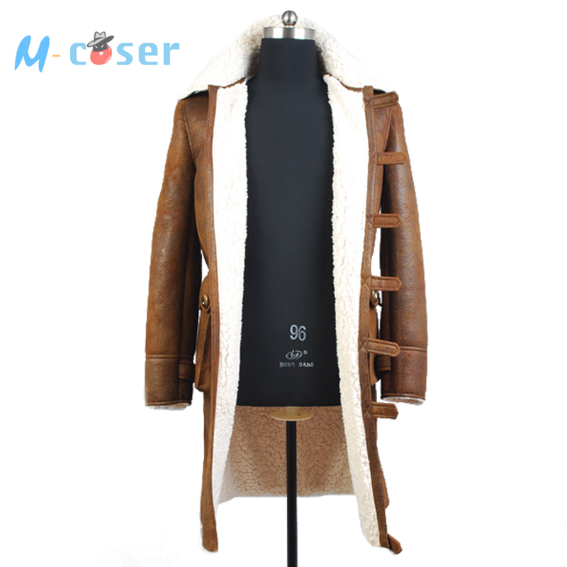 Batman: The Dark Knight Rises Bane Winter Coat Jacket Movie Halloween Cosplay Costume For Men Version 2 Custom Made