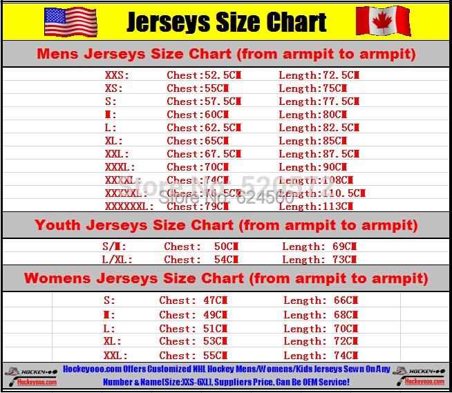Nhl jersey size chart also seatle davidjoel rh