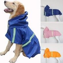Pet Small Medium Large Dog Raincoat Reflective Rain Jacket Waterproof Clothes Safety Rainwear Dogs Apparel