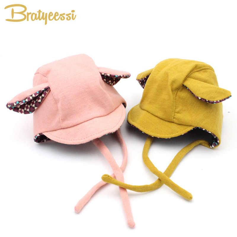 New Cute Rabbit Long Ear Hat Baby Bonnet Kids Girls Boys Baby Hat Photo  Props Yellow 3a587fc8810