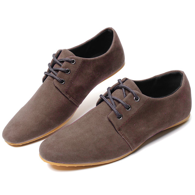 New Men Shoes Casual High Quality Suede Leather Men Flats Black Oxford Shoes For Men Driving Boats Flat Shoe Botas