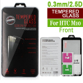 50pcs For HTC M10 tempered glass screen protector 9H (0.3mm/2.5d)