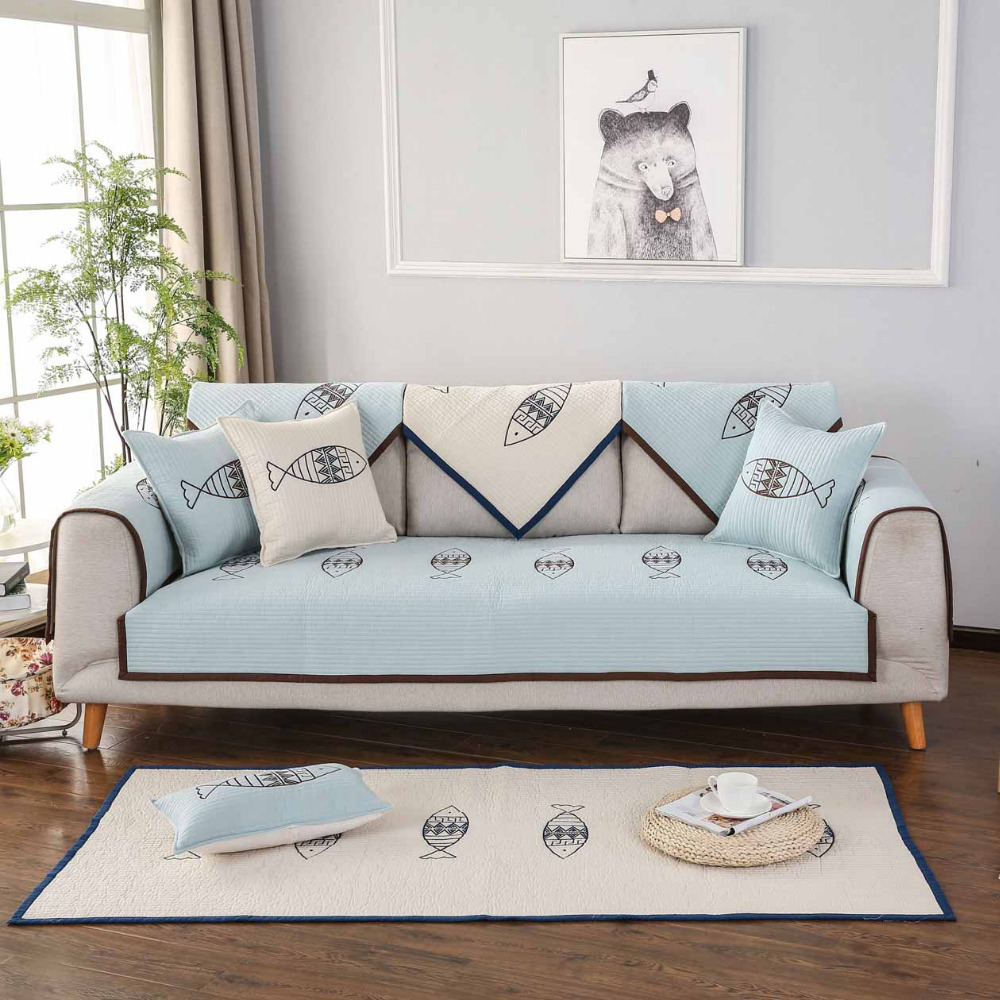 Combination Warm Cotton Sofa Covers for Home Living Room