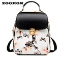Floral Printing Backpack  Hasp Versatile Fashion Backpack Leather Bags Women Backpack Women