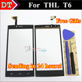 Alta Qualidade TP painel de Toque Digitador Da Tela Para THL T6 T6 Smartphone 5.0 de polegada Touch Panel Negro Cor Brindes