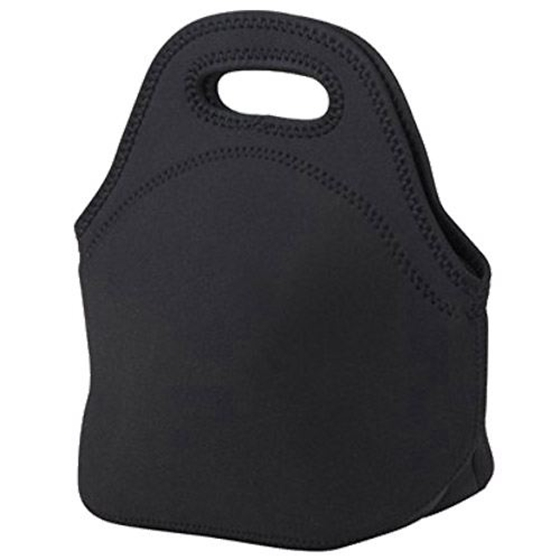 AFBC Mini Rubber Lunch Bag Lunch Bags Thermal Bag Cooler Bag, Lunch Tote Black