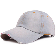 Wholesale Casual Vintage Solid Denim Baseball Caps For Men Women Summer Hip Hop Snapback Hat 2018 New Brand Free Shipping