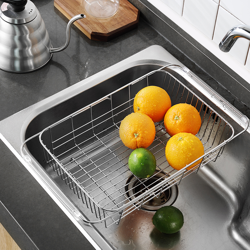 304 Stainless Steel Sink Drainage Basket Dishwasher Bowl Chopsticks Drainage Rack Dish Rack Kitchen Shelf Receptacle Rack in Racks Holders from Home Garden