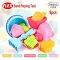 9 unids/set alta calidad marca Super PP plástico suave juguete del baño del bebé herramientas de juego de arena para niños juguetes de playa verano de los niños juguetes exterior