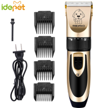 Cat Elektromos Clipper Pet Borotválkozás Hair Clipper Pusher Állatok ápolás Elektromos olló Cat Hair Trimmer Cutter 110-240V AC FN H