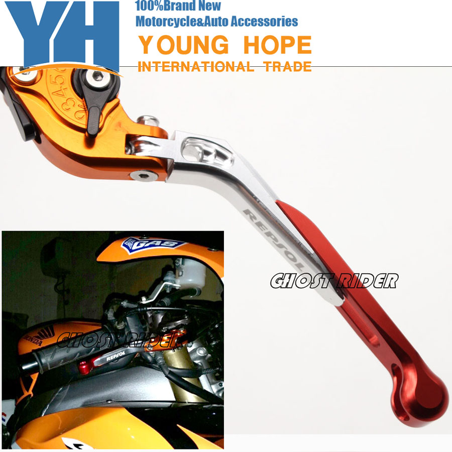 New Fits For Honda Cb600rr Cbr1000rr 07 16 Motorcycle Accessories Motorcycles Adjustable Folding Extendable Brake Clutch Levers Logo Repsol In Ropes Cables