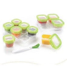 Quality Guarantee BPA FREE 6pcs Baby Block Set Baby Food Containers Reusable Stackable Storage Cups Drop Ship