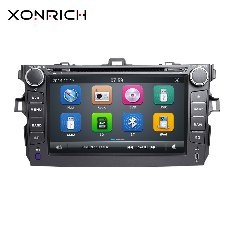 Car Stereo 2 Din Car DVD Player <font><b>Multimedia</b></font> Navigation AutoRadio Head Unit For <font><b>Toyota</b></font> <font><b>Corolla</b></font> 2007 2008 2009 2010 <font><b>2011</b></font> image