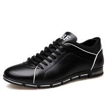 Fabrecandy Большие размеры 38-48 Мужская обувь Англия тенденция Для мужчин повседневная обувь Обувь кожаная дышащая мужская footear Лоферы Мужская обувь на плоской подошве