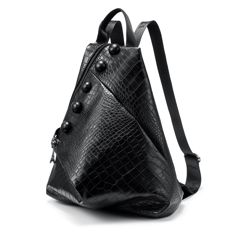Backpack Women Large Travel Bag Unisex Pu Leather School Bag For Teenage Girls Fashion Black Men