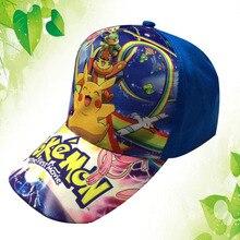 Pokemon Go Cosplay Cap Novelty Pokemon Ash Ketchum Hats kid Children Hat charms Baseball cap Summer Autumn Sport Hat