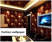 beibehang Fashion wall paper stereo personality fashion flash bar hotel fancy dance hall box theme room papier peint wallpaper