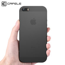 Cafele Ponsel Case untuk iPhone 5 5 S SE Cover Matte PP Ponsel Case untuk Apple I Phone 5 S fashion Permen Warna Frosted Back Cover(China)