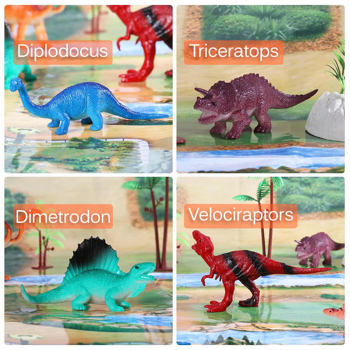 31PCS Realista Não-Tóxico Durável Conjunto de Brinquedo Brinquedos Modelo de Simulação de Dinossauros Animais Figuras Sortido Para Recompensas Presentes Criança