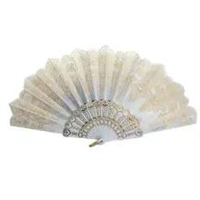 Lace Fan Hand-Fan Folding Wedding-Silk Held Dance Flower Spanish-Style Lady