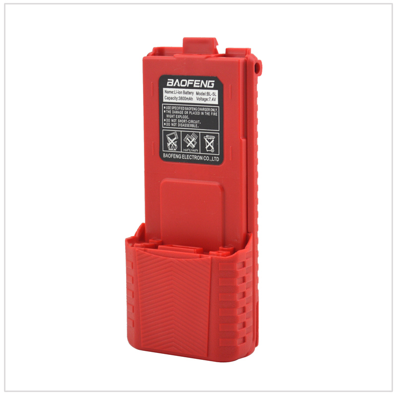 Red Baofeng UV-5R walkie talkie Li-ion Battery 3800mAh 7.4V for Baofeng UV-5R,UV-5RA,UV-5RB,UV-5RC,UV-5RD,UV-5E,TYT TH-F8