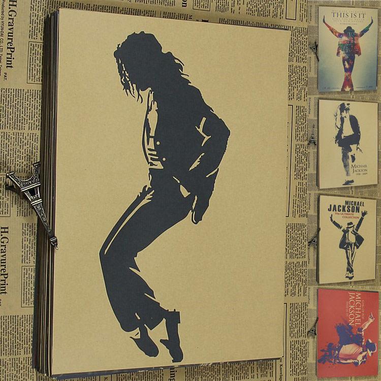 Vintage Paper Retro cartel animado - Michael Posters / kid cudi poster / Vintage