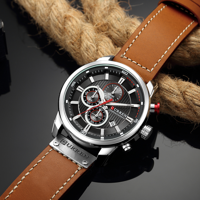 CURREN 8291 Luxury Brand Men Analog Digital Leather Sports Watches Men\`s Army Watch Man Quartz Clock Relogio Masculino drop shipping wholesale cheap 2018 (3)