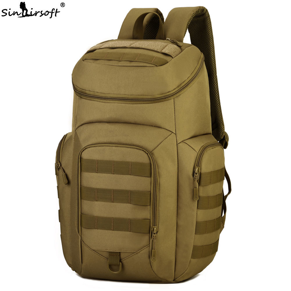 40L Men Waterproof Nylon Camping Military Tactical Bag Male Camouflage Travel Laptop Rucksack 15Inch Backpack