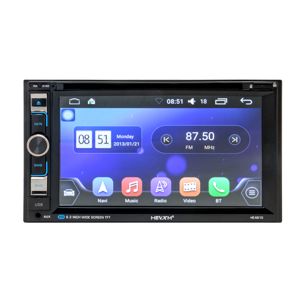 Image 1 - HEVXM 6610 Universal 6.2 inch Car DVD Navigation Player Car Radio Multimedia MP5 Play GPS Navigator Dual Spindle Car Video Play-in Vehicle GPS from Automobiles & Motorcycles