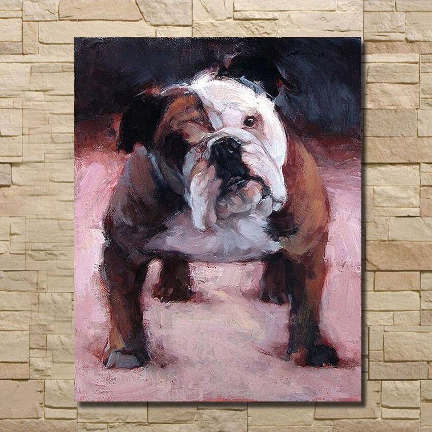 Handgemalte English Bulldog Lgemlde Kunst Wandbilder Auf Leinwand Moderne Zuhause Dekorative Fr Wohnzimmer Kein Gestaltet
