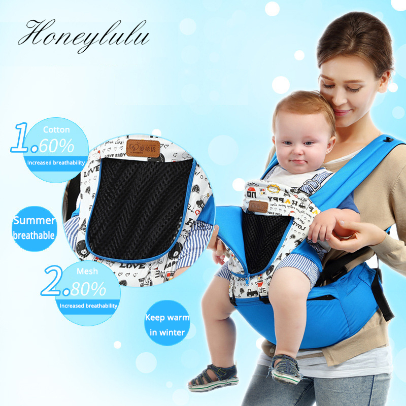Honeylulu Fashion Removable Cap Baby Carrier Breathable Ergoryukzak Sling For Newborns Kangaroo For Baby Hipsit Multifunctional in Backpacks Carriers from Mother Kids