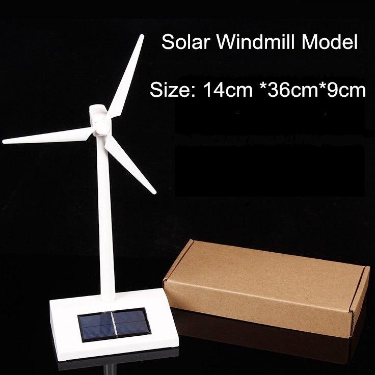 Солнечная мельница модель домашнего декора автомобиль установлен солнечная мельница DIY Солнечная головоломки игрушки best подарок