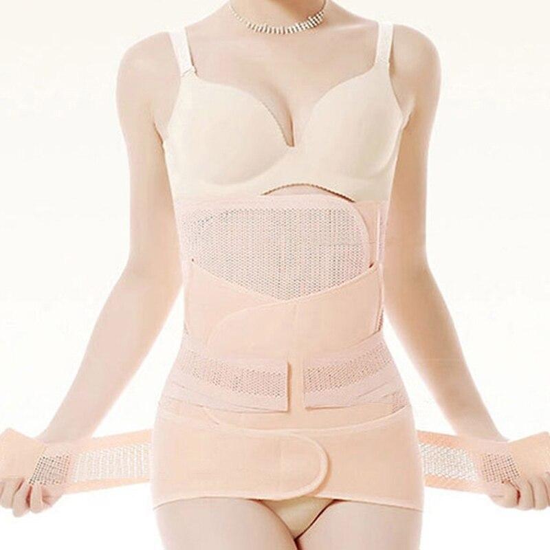 3Pieces Set Maternity Postnatal Belt After Pregnancy Bandage Belly Band Waist Corset Pregnant Women Slimming Shapers