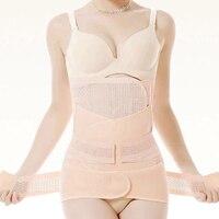 3Pieces / Set Maternity Postnatal Belt After Pregnancy Bandage Belly Band Waist Corset Pregnant Women Slimming Shapers Underwear