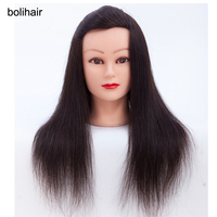 100 Human Hair Training Mannequin Heads 16 Black Hair Professional Styling Mannequin Head Hairdresser Practice Maniqui
