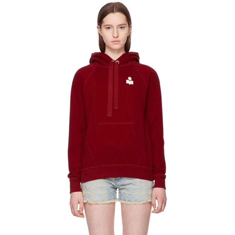 ผู้หญิงแขนยาวลำลอง Hooded Hoodie Sweatshirt-ใน เสื้อฮู้ดและเสื้อกันหนาว จาก เสื้อผ้าสตรี บน   2