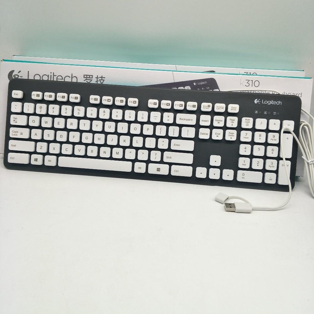 100% original Logitech lavable clavier K310 dur imprimante Laser et revêtement UV lavable clavier Durable propre facile imprimante Laser