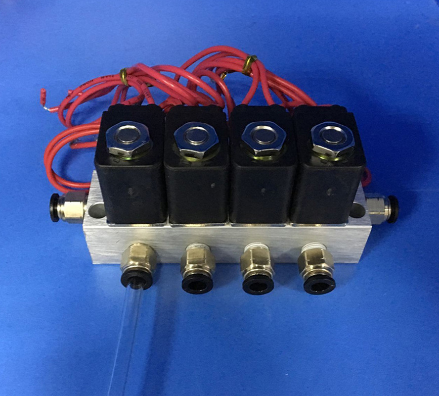 4pcs manifold valve connet pipe O D 4mm 6mm 8mm 10mm 12mm Pneumatic direct act solenoid