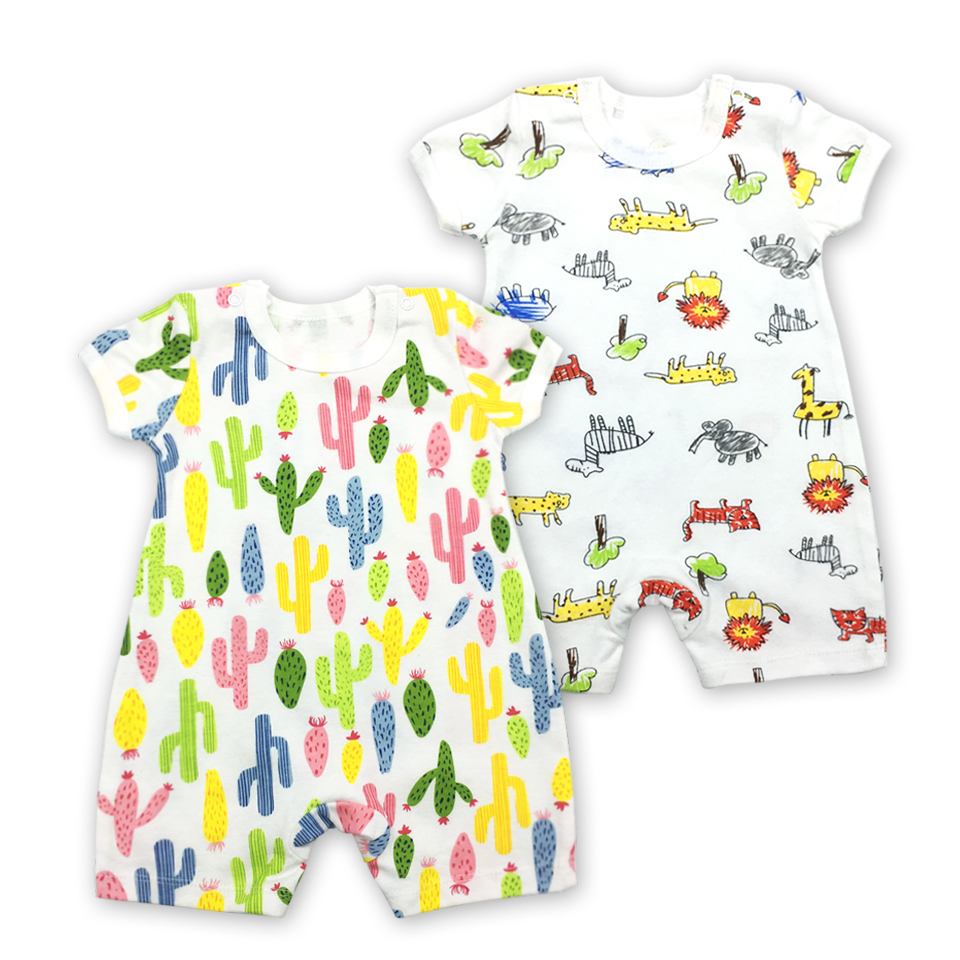 Baby cotton O-neck baby boy girl clothes Rompers Clothing Printed Environmental protection Printed embroidery Infant Product Set