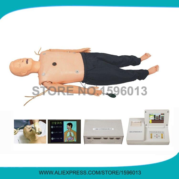 Mannequin ACLS médical avec formation en rcr et Intubation de la trachée, mannequin de premiers soins, entraîneur d'intubation