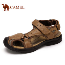 Camel Outdoor Man Sandals Shoes Fashion Durable Breathable Men Beach Sandals Genuine Leather Closed Toe River Shoe A622147157