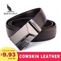 Ceinture en cuir véritable pour hommes de haute qualité nouvelle concepteur ceintures hommes de luxe sangle mâle ceinture mode Vintage boucle ceinture pour Jeans