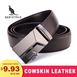 Men's Genuine Leather Belt High Quality New Designer Belts Men Luxury Strap Male Waistband Fashion Vintage Buckle Belt for Jeans(China)