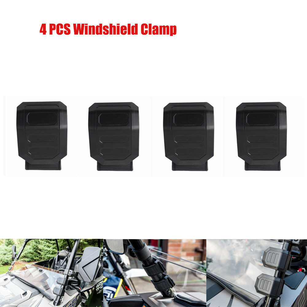 UTV 1 Set Universal Windshield Window HD Clamp for Can-Am Maverick 1000R for Honda Pioneer 500 <font><b>700</b></font> 1000 for <font><b>Polaris</b></font> RZR XP image