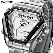 WEIDE Men Watch LED Analog Movement Men Luxury Brand Bussiness Quartz Alloy Waterproof Military Wrist Watches Relogios Masculino