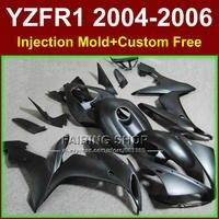 Пользовательские Бесплатная ABS литья под давлением дешевые Обтекатели комплекты для Yamaha R1 2004 2006 YZFR1 YZF1000 YZF 04 05 06 матовый черный комплект обте