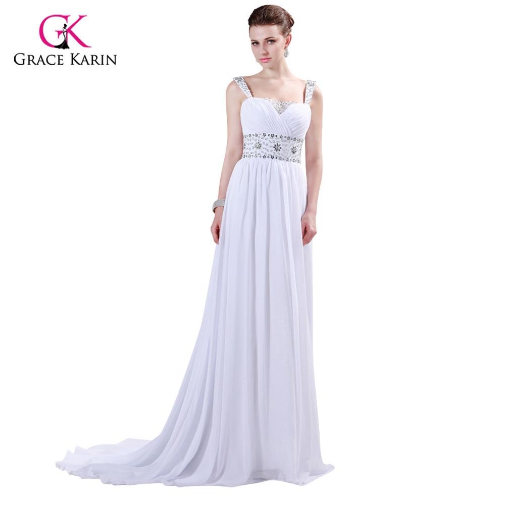 Prom Dresses 2018 Grace Karin Strap Chiffon Floor length Long Beaded ...