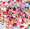 Free shipping mixe sizes & colors ( Dia.2,3,4 6 8 mm ) imitation half round flatback pearl beads Decorate Nail Art Phone for diy
