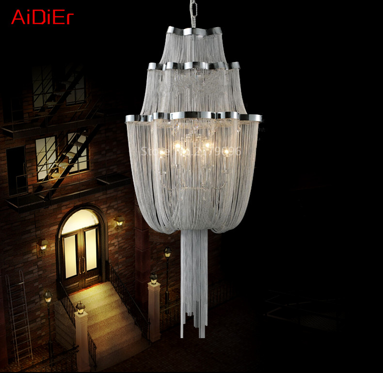 Aliexpress buy high end european style chandelier bedroom aliexpress buy high end european style chandelier bedroom lamps italian restaurant chain aluminum chain chandelier hotel lighting from reliable chain aloadofball Images